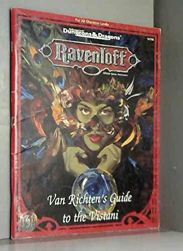 Van Richten's Guide to the Vistani (Ravenloft Official Game Accessory) (0786901551) by David Wise