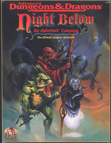 Night Below: An Underdark Campaign (AD&D Fantasy Roleplaying, 1125) (0786901799) by Carl Sargent