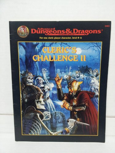 9780786902002: Cleric's Challenge II (Ad&d One-On-One Adventure)
