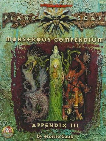 Monstrous Compendium Planescape Appendix #3 (Planescape): Monte Cook