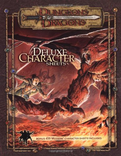 9780786934218: Dungeons & Dragons Accessory: Deluxe Character Sheets (D&D Accessory)