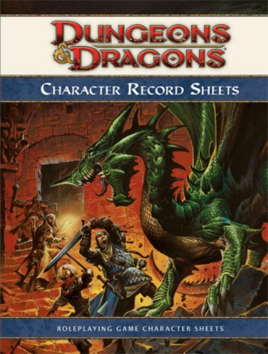 9780786948536: Character Record Sheets (Dungeons & Dragons)