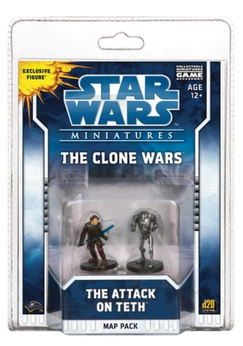 9780786951161: Star Wars Miniatures The Clone Wars: The Attack on Teth: A Star Wars Miniatures Map Pack