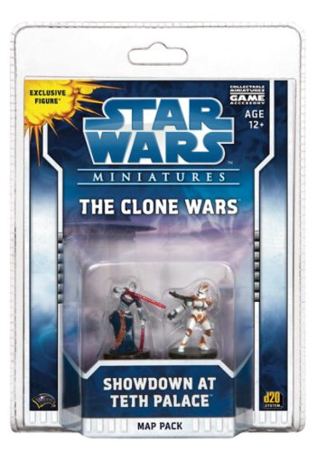 9780786951178: The Clone Wars: Showdown at Teth Palace: A Star Wars Miniatures Map Pack (Star Wars Miniatures Product)