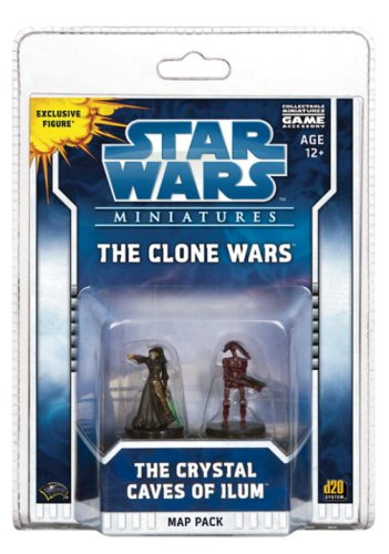 9780786951185: The Clone Wars: The Crystal Caves of Ilum Map Pack [With 2 Stat Cards and Double-Sided Battle Map] (