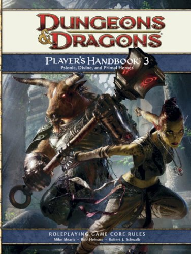 9780786953905: Dungeons & Dragons Player's Handbook 3: Psionic, Divine, and Primal Heroes: Roleplaying Game Core Rules