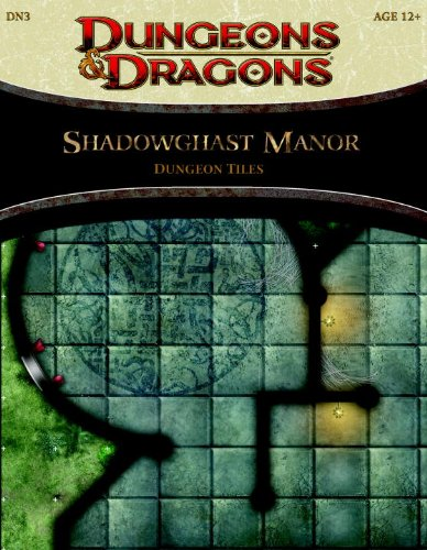 9780786958016: Shadowghast Manor - Dungeon Tiles: A 4th Edition Dungeons & Dragons Accessory (4th Edition D&D)