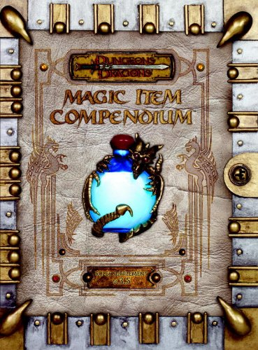 Premium 3.5 Edition Dungeons Dragons Magic Item Compendium DD Accessory: Wizards RPG Team