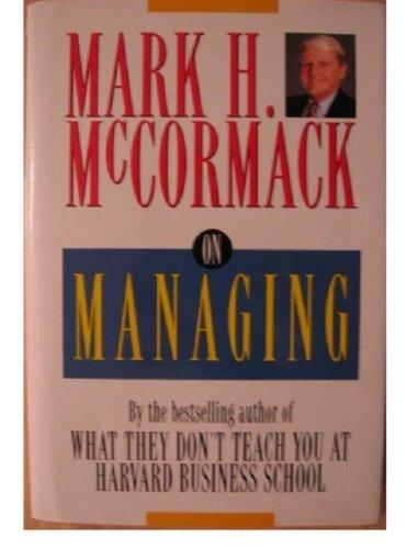 9780787109059: On Managing