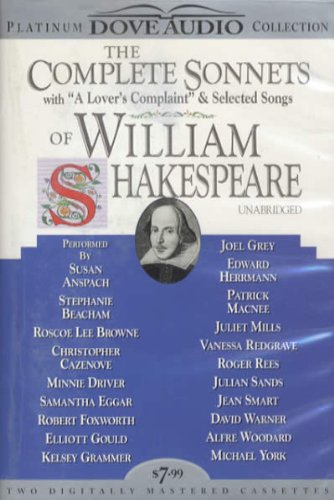 The Complete Sonnets of William Shakespeare with: Cazenove, Christopher