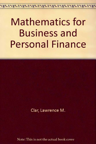 9780787208202: Mathematics for Business and Personal Finance