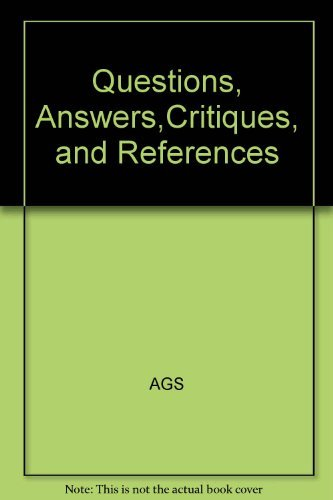 9780787219918: Geriatrics Review Syllabus: Book III/Questions, Answers, Critiques and References