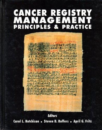 9780787221201: CANCER REGISTRY MANAGEMENT: PRINCIPLES AND PRACTICE