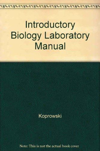 9780787238933: Introductory Biology Laboratory Manual
