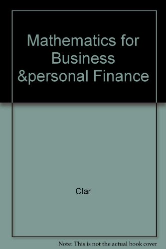 9780787242343: Mathematics for business and personal finance