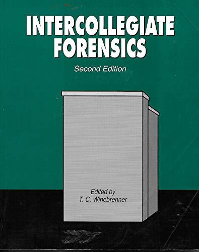 9780787243807: Intercollegiate Forensics