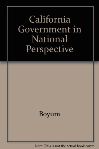 9780787246730: California government in national perspective