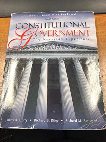 9780787256715: Constitutional Government: The American Experience