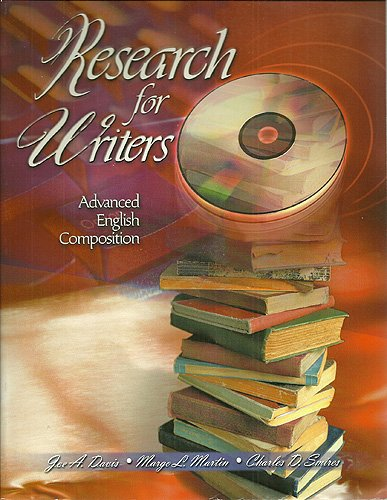 9780787258535: Research for Writers: Advanced English Composition
