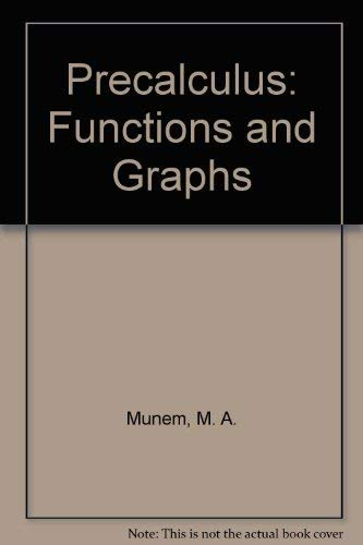 9780787260446: Precalculus: Functions and Graphs