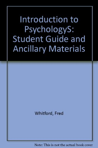 Introduction to Psychologys: Student Guide and Ancillary Materials