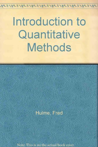 9780787263171: Introduction to quantitative methods
