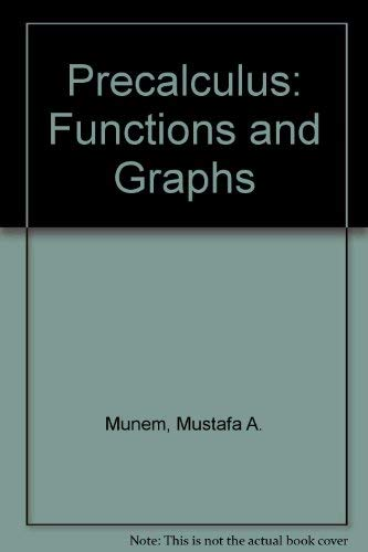 9780787266288: Precalculus: Functions and Graphs