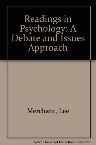 9780787270728: Readings in Psychology: A Debate and Issues Approach