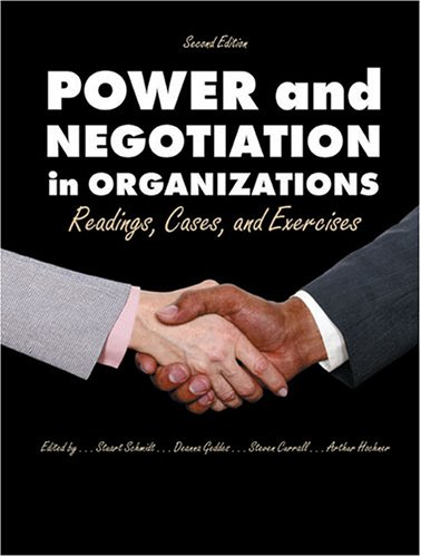 9780787277215: POWER AND NEGOTIATION IN ORGANIZATIONS: READINGS, CASES AND EXERCISES