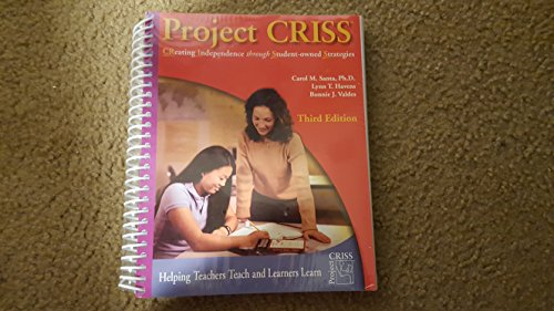 9780787280994: Project CRISS (Creating Independence Through Student-Owned Strategies)