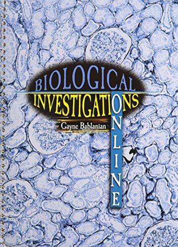 9780787291297: Biological Investigations: Online