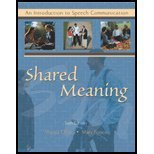 9780787294595: Shared Meaning: An Introduction to Speech Communication