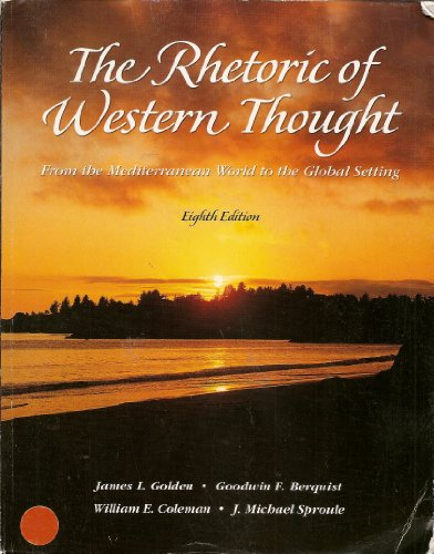 9780787299675: The Rhetoric of Western Thought