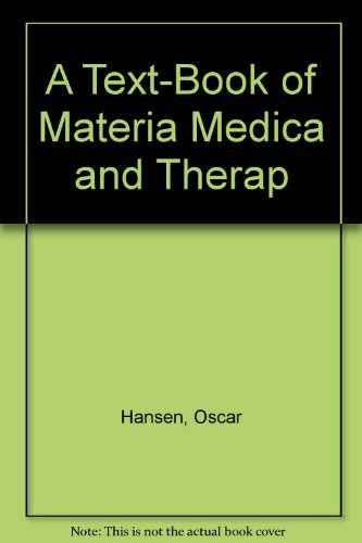 9780787303709: Textbook of Materia Medica & Therepeutics of Rare Homeopathic Remedies