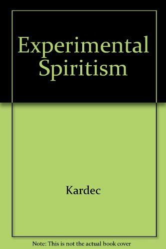 9780787310622: Experimental Spiritism