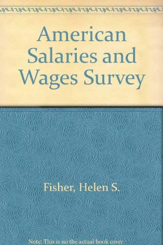 9780787600594: American Salaries and Wages Survey