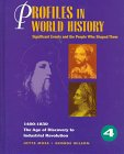 9780787604684: Profiles in World History - The Age of Discovery to Industrial Revolution: Significant Events and the People Who Shaped Them