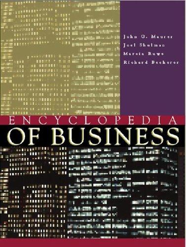 Encyclopedia of Business 2 2v Set: Malonis, Jane A.