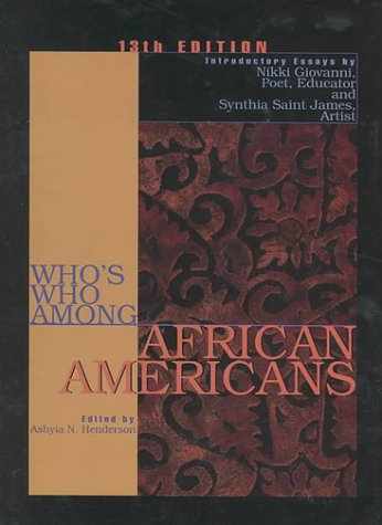 9780787636340: Who's Who Among African Americans (Who's Who Among African Americans, 13th ed)