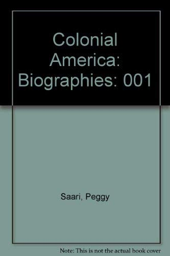 9780787637613: Colonial America: Biographies