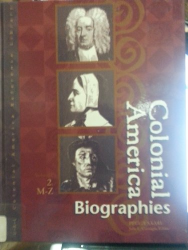 9780787637644: Colonial America: Biographies (2 Volume set)
