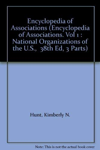 9780787648190: Encyclopedia of Associations (Encyclopedia of Associations. Vol 1 : National Organizations of the U.S., 38th Ed, 3 Parts)