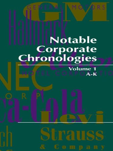 9780787650490: Notable Corporate Chronologies