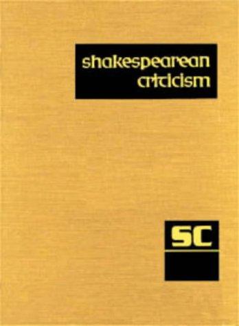 SC Volume 63 Shakespearean Criticism (Shakespearean Criticism (Gale Res)): Lee, Michelle
