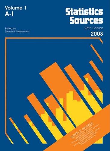 9780787663278: Statistics Sources 2003