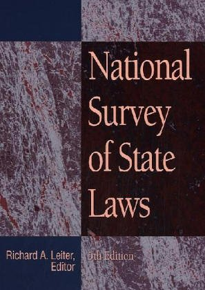 9780787673611: National Survey of State Laws