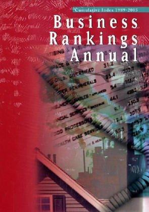 9780787674045: Business Rankings Annual (Buisness Rankings Annaul)