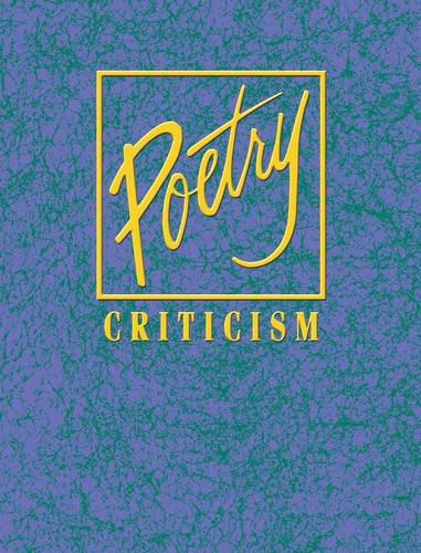 9780787687052: Poetry Criticism