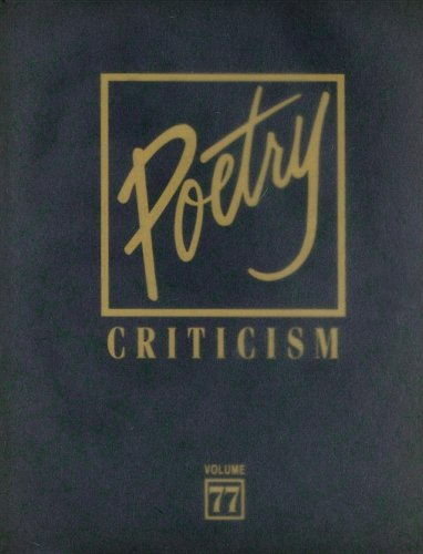 Poetry Criticism: Not Available