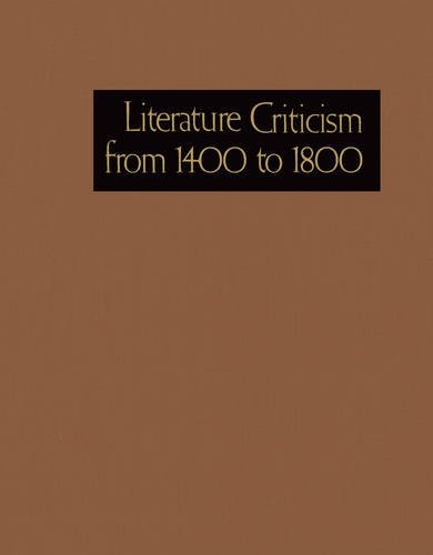 9780787687335: Literature Criticism from 1400 to 1800